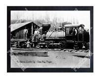 Historic California Lumber Co. - Coos Bay, Oregon Train Postcard