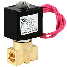 Electric Brass Solenoid Valve 14 Inch 110v Ac Npt Gas Water Air Normally Closed