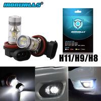 Ironwalls H11 H8 H9 LED Fog Light Bulbs Car Driving Lamp DRL 6000K White 4000LM