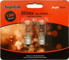 10W Fridge Bulb Lamp E14 SES Twin Pack General Light Bulbs By Supalite 10 Watt