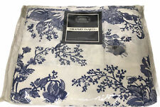"JCP Blue White Toile Floral Lined Curtains Rod Pocket New 2 Panels 63""Draperies"