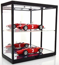 TRIPLE 9 LED DISPLAY SHOW CASE DOUBLE SHELVES 1:18 SCALE IDEAL FOR CAR DISPLAYS