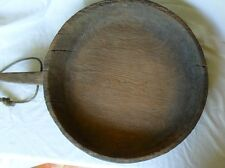 Rare Antique large teak wood Sticky Rice Bowl from Thailand