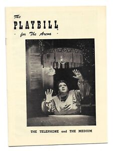 Original Playbill 1950 The Telephone and The Medium