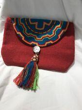 NEW Jaguar-undi Ave Phonix Clutch Handbag Red Jaguarundi Latin America United