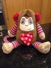 First & Main Mod Bods Monkey valentines hearts pouch RARE plush stuffed animal