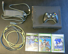 Xbox 360 Game system Complete 120Gb with controller, 3 Games Sonic + CivRev