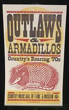 Hatch Show Print Outlaws and Armadillos Country's Roaring '70s Willie & Waylon