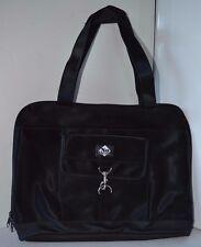 Vintage No Boundaries Black Computer Bag Purse Leather