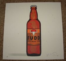 THE SIMPSONS poster print FUDD BEER off the market fictional food Joshua Budich
