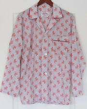 Vintage Pleetway Men's Pajamas Medium Geometric Pattern Gray