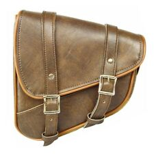 LEFT SIDE SWING ARM DISTRESSED BROWN SOLO BAG FOR HARLEY SOFTAIL HERITAGE - DV9N