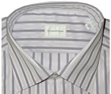 $425 NEW ERMENEGILDO ZEGNA WHITE & LAVENDER SUPERFINE COTTON DRESS SHIRT 43 17