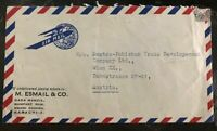 1950s Karachi Pakistan Commercial Airmail Cover To Vienna Austria