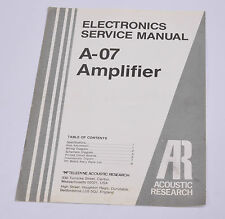 Acoustic Research X-06 service manual