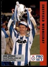 Pro Set Football Fixtures 1991-1992 Sheffield Wednesday John Sheridan #18