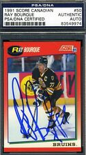 RAY BOURQUE SIGNED PSA/DNA CERT 1991 SCORE AUTHENTIC AUTOGRAPH