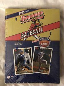 FACTORY SEALED 1993 Bowman Baseball Wax Box (24 Packs)  DEREK JETER