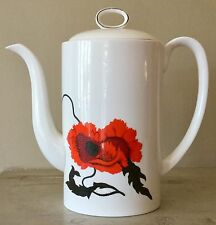 WEDGWOOD bone china coffee pot CORNPOPPY Susie Cooper Designs