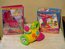 HTF 2001 Barney Spaceship Flashlight WORKS, DVD SINGING CIRCUS & Puzzle 24pc.