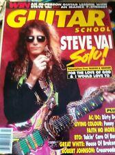Guitar School Magazine July 1990 Steve Vai Vernon Reid Great White Faith No More