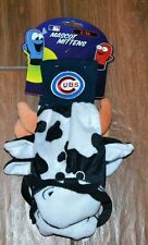 NEW Chicago Cubs Mascot Mittens Cow with Glasses Size Large/X-Large L/XL Gloves