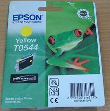 ORIGINALE Epson T0544 to544 GIALLO CARTUCCIA ORIGINALE FROG INCHIOSTRO OEM per R800 R1800