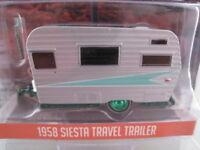 Siesta Travel Trailer 1958  Rarität mit grünen Felgen  Greenlight  1:64  NEU