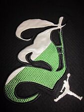 Authentic Jordan stiched jersey Black green white chicago bulls wizards sox