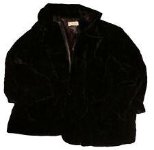 Vintage 30s Style Cambridge Dry Goods Swing Crop Jacket Velvet Black Medium