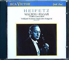 Jascha HEIFETZ: WALTON & ELGAR Violin Concerto SARGENT CD Violinkonzerte Malcolm