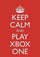 """Keep Calm And Play Xbox One"" Rojo Cumpleaños Tarjeta De Video Juegos Theme & FREEPOST"