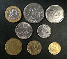 France Coin Lot - Full Set of Pre-Euro French Coins - Free Shipping!