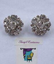 2 bottoni di Diamante-Pulsante d'Argento-Taglia 20mm-utilizzare sui Cuscini-ARTIGIANATO