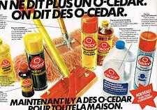 PUBLICITE  1979   O CEDAR  produits entretien maison ( 2 pages)
