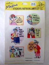 Vintage Hallmark Maxine 4 Sticker Sheets Unopened Pkg Cranky Old Lady Humor Rare