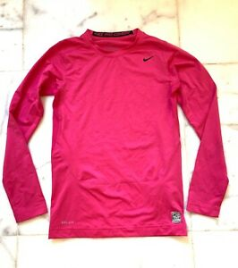 Nike Pro Combat Dri Fit Compression Shirt Youth XL - Hot Pink