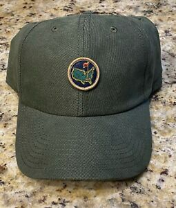 Masters Augusta National Golf Club Berckmans Place Olive 1934 Hat NEW with tags