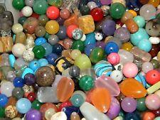 NEW 8/oz LOT Mix Semi Precious, Gemstone, Agate, Rock Drilled MIXED Beads