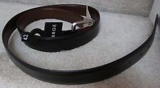 George Mens Reversible Black/Brown Belt Size 42 Italy NWT Brand New