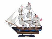 "HMS Bounty 20"" - Decorative Tall Ship - Wood Model Boat - Royal Navy Ship"