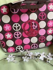 "Accessories 22 Peace Symbol Print 15"" Laptop Bag Case - New"