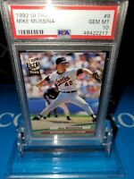 PSA 10 💎 MINT~MIKE MUSSINA ROOKIE RC 1992 FLEER ULTRA#9 ORIOLES HOF! PRISTINE🔥