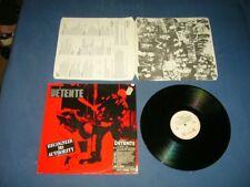 DETENTE --- rare original 1986 RECOGNIZE NO AUTHORITY LP!!!  speed thrash metal