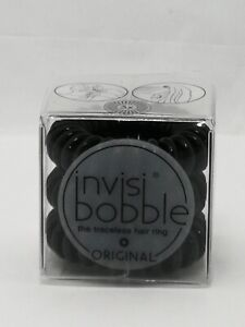 Invisibobble Original True Black 3 Pack Free P&P