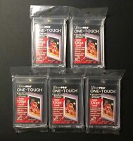 Lot of 5 Ultra Pro One Touch 130 PT Magnetic Thick Card Storage Holders UV-SAFE