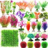 Artificial Grass Lawn Plastic Water Plant Aquarium Fish Tank Ornament Decoration