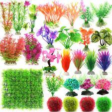 Artificial Plastic Grass Underwater Plants Ornament Fish Tank Aquarium Decor New