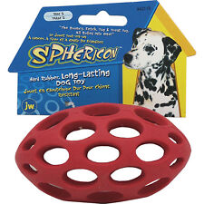 JW Pet Sphericon Rubber Play Fetch Football Lattice Dog Toy - Size 5