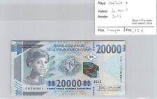 BILLET GUINÉE - 20 000 FRANCS 2015 *